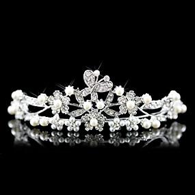preiswerte One One Bridal®-Krystall / Künstliche Perle / Stoff Tiaras mit 1 Hochzeit / Besondere Anlässe / Party / Abend Kopfschmuck / Aleación