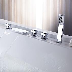 preiswerte Sprinkle® Armaturen-Moderne  with  Chrom Drei Griffe Fünf Löcher  ,  Eigenschaft  for Wasserfall Verbreitete Ausziehbare