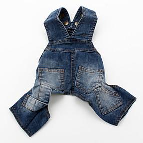 preiswerte Vorräte für Hund-Hund Hosen Hundekleidung Blau Kostüm Jeansstoff Jeans Cowboy Modisch XS S M L XL XXL