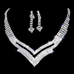 povoljno Nakit za vjenčanje i izlaske-Bijela dame Naušnice Jewelry Srebro Za Vjenčanje Party godišnjica Rođendan Angažman Dar / Dnevno