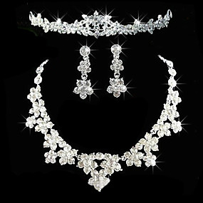 cheap Wedding & Party Jewelry-Women's Others Jewelry Set Earrings / Necklace / Tiaras - Regular For Wedding / Party / Anniversary