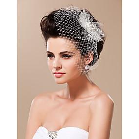 preiswerte One One Bridal®-Einschichtig Schnittkante Hochzeitsschleier Gesichts Schleier / Vogelkäfig Schleier Mit Tüll / Netzschleier