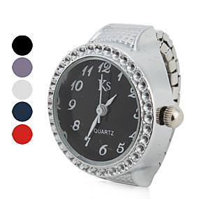 preiswerte Damenuhren-Damen Uhr Ringuhr Japanisch Quartz Legierung Silber Armbanduhren für den Alltag Analog damas Glanz Modisch Purpur Rot Blau / Ein Jahr / Ein Jahr / SSUO LR626