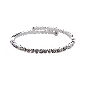 preiswerte One One Bridal®-Damen Klar Charme Aleación Armband Schmuck Silber Für Party Jahrestag Geburtstag Alltag
