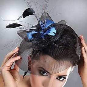 preiswerte Party-Tüll / Feder Fascinatoren / Kopfbedeckung mit Blumig 1pc Hochzeit / Besondere Anlässe Kopfschmuck