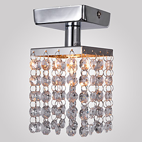 "cheap Ceiling Lights & Fans-1-Light MAISHANG® 8(3"") Crystal / Mini Style Flush Mount Lights Metal Chrome Modern Contemporary 110-120V / 220-240V / G9"