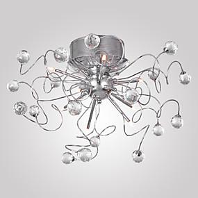 povoljno Lámpatestek-Lusteri / Flush Svjetla Ambient Light Chrome Electroplated Metal Crystal 110V / 110-120V / 220-240V