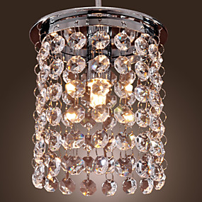 povoljno Lámpatestek-Mini Privjesak Svjetla Downlight Electroplated Crystal, Mini Style 110-120V / 220-240V Bulb Included / G9