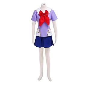 preiswerte Anime PLA-Inspiriert von Cosplay Cosplay Anime Cosplay Kostüme Japanisch Cosplay Kostüme / Schuluniformen Patchwork Kurzarm Top / Rock Für Damen