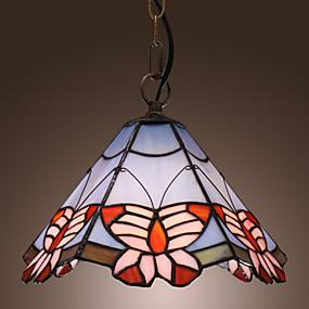 povoljno Stropna svjetla i ventilatori-Tiffany privjesak svjetla s leptir uzorkom