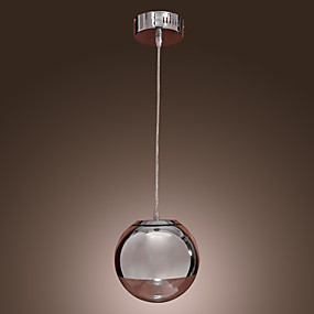 povoljno Viseća rasvjeta-Privjesak Svjetla Ambient Light Chrome Metal Glass Mini Style 110-120V / 220-240V Bulb not included / E26 / E27