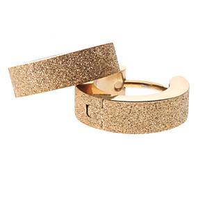preiswerte Ausverkauf-Damen Kreolen Huggie Ohrringe Klassisch Billig damas Edelstahl Ohrringe Schmuck Golden Für Party Alltag