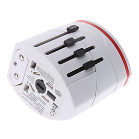 cheap Top Sellers-International Travel Adapter With 2 USB Charger High quality, durable for US, EU, UK, AU 160 Countries