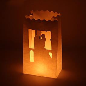 preiswerte Seidenpapier Blumen-Kerzen & Kerzenständer Fasergemisch Hochzeits-Dekorationen Hochzeit / Party / Hochzeitsfeier Garten / Klassisch Ganzjährig