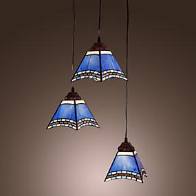 povoljno Tiffany rasvjeta-40W starinski nadahnuti privjesak svjetlo s 3 svjetla