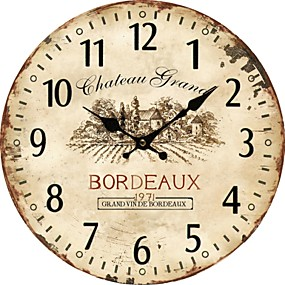 cheap Rustic Wall Clocks-Euro Country Wall Clock 1pc