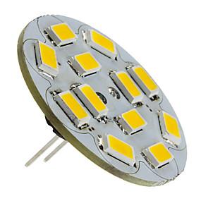 cheap LED Bi-pin Lights-1.5 W LED Spotlight 130-150 lm G4 12 LED Beads SMD 5730 Warm White 12 V / #