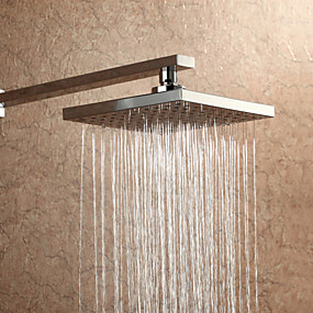 cheap Shower Heads-Indoor Outdoor Rainfall Shower Head Wall Mounted Chrome 8 Inch Square ShowerHead Pressure Boosting Design