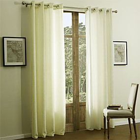 preiswerte Fensterdekoration-Schlaufen für Gardinenstange Ösen Schlaufen Zweifach gefaltet zwei Panele Window Treatment Modern Solide 55% Baumwolle Chenille/45%