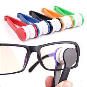cheap Travel Comfort-Eyeglasses Cleaner Portable Multi-function Microfiber ABS 1 pc Black Yellow Green Solid Colored Travel Accessory