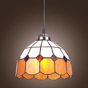 povoljno Lámpatestek-60W Tiffany privjesak svjetlo s jedne lake jednostavnog dizajna