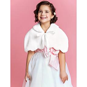 voordelige Bloemenmeisjesaccessoires-Mouwloos Imitatiebont Bruiloft / Feest / Avond Bontstola's / Kinderstola's Met Korte cape