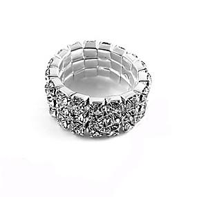 billige Vintage Ring-Dame Band Ring Strass Legering Mote Fest Smykker