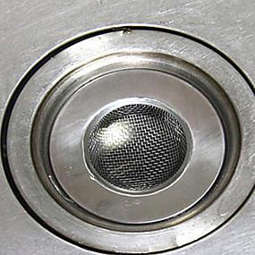 preiswerte Küchen Reinigungsbedarf-3,5 cm Edelstahl Spüle Müllsieb Küchenspüle Müllsieb Ablaufstopfen