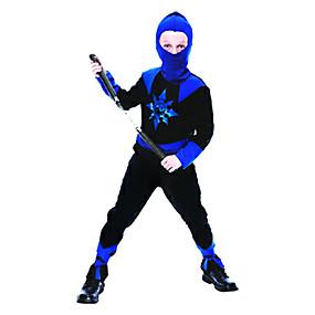 preiswerte Kostüme für Kinder-Stealth Blue and Black Child Ninja Kostüm