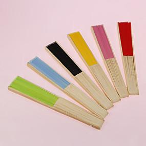 billige Festsouvenirs og gaver-smuk bomuld hånd fan (flere farver)
