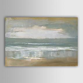 voordelige Schilderijen van landschappen-met de hand geschilderd abstract landschap olieverfschilderij uitgerekt canvas
