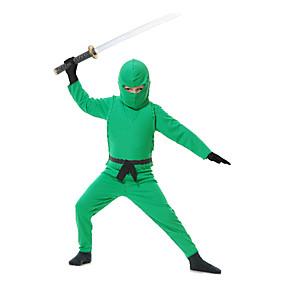 preiswerte Kostüme für Kinder-Child Green Ninja Kostüm
