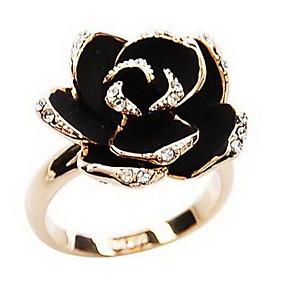 ราคาถูก แหวนวินเทจ-สำหรับผู้หญิง คำชี้แจง Ring สีเงิน ทอง พลอยเทียม โลหะผสม สุภาพสตรี วินเทจ เกี่ยวกับยุโรป ปาร์ตี้ ทุกวัน เครื่องประดับ ช่าง โรส Flower ถูก สามารถปรับได้