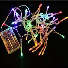 preiswerte 20% Rabatt-10m Leuchtgirlanden 80 LEDs LED Diode Mehrfarbig Party / Dekorativ / lieblich AA-Batterien angetrieben 1pc