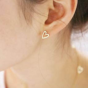 preiswerte Ausverkauf-Damen Ohrstecker Herz damas Simple Style Modisch Ohrringe Schmuck Gold / Silber Für Party Alltag Normal