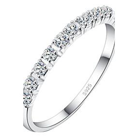 olcso Évforduló-Női Nyilatkozat gyűrű Ezüst Ötvözet Esküvő Ékszerek / Strassz