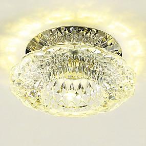 cheap Ceiling Lights & Fans-LightMyself™ 10 cm Crystal / Mini Style / LED Flush Mount Lights Modern Contemporary 110-120V / 220-240V
