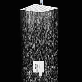 preiswerte Armaturen-Duscharmaturen - Moderne Chrom Wandmontage Keramisches Ventil Bath Shower Mixer Taps / Messing / Einzigen Handgriff Zwei Löcher