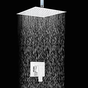 preiswerte Armaturen-Duscharmaturen - Moderne Chrom Nur Dusche Keramisches Ventil Bath Shower Mixer Taps / Messing / Einzigen Handgriff Zwei Löcher