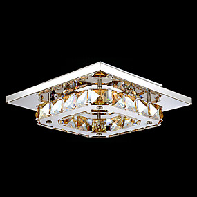 "cheap Ceiling Lights & Fans-1-Light UMEI™ 21(8"") LED Flush Mount Lights Metal Electroplated Modern Contemporary 90-240V"