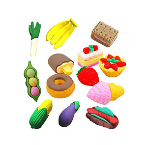 cheap Gift&Stationery-Special Design Fast Food Shaped Eraser Set(4 PCS) For School / Office