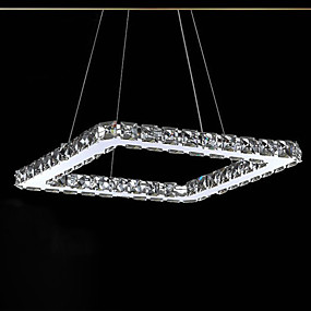 cheap Ceiling Lights & Fans-1-Light UMEI™ 20 cm Crystal / LED Pendant Light Metal Linear Electroplated Modern Contemporary 90-240V