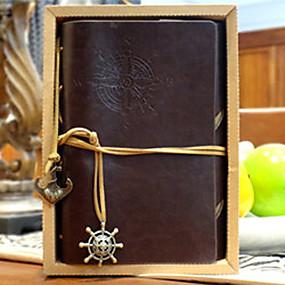 preiswerte Be a Viking!-Reis Notizblock Vintage Pirat Loseblatt Notizbuch Tagebuch 80 Seiten Kraftpapier braun