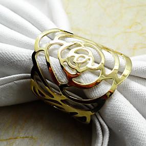 preiswerte Servietten-Ring-Metal Servietten Ring Mit Mustern Umweltfreundlich Tischdekorationen 1 pcs