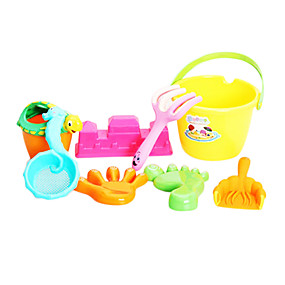 cheap Beach & Sand Toys-8 Pieces Colorful Thicken Sand Playset for Kids