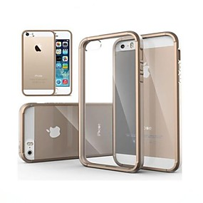 preiswerte Handys & Elektronik-Hülle Für iPhone 5 iPhone SE / 5s / iPhone 5 Transparent Rückseite Solide Hart PC