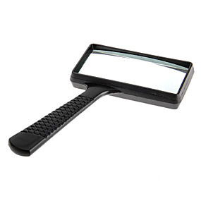 cheap Discover Super Hot-6X Rectangle Handheld Magnifying Glass Magnifier Microscope Plastic Black