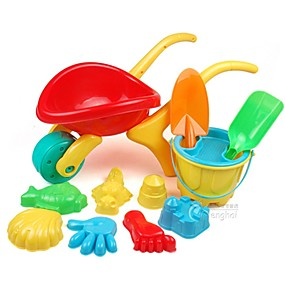 cheap Beach & Sand Toys-12 Pieces Large-sized Thicken Water and Sand Trolley Toy Set