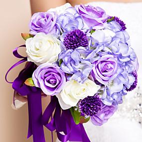 preiswerte Hochzeitsblumen-Hochzeitsblumen Sträuße Hochzeit Seide 30 cm ca.