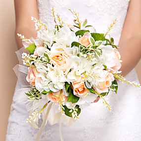 preiswerte Hochzeitsblumen-Hochzeitsblumen Sträuße Hochzeit Seide 28 cm ca.